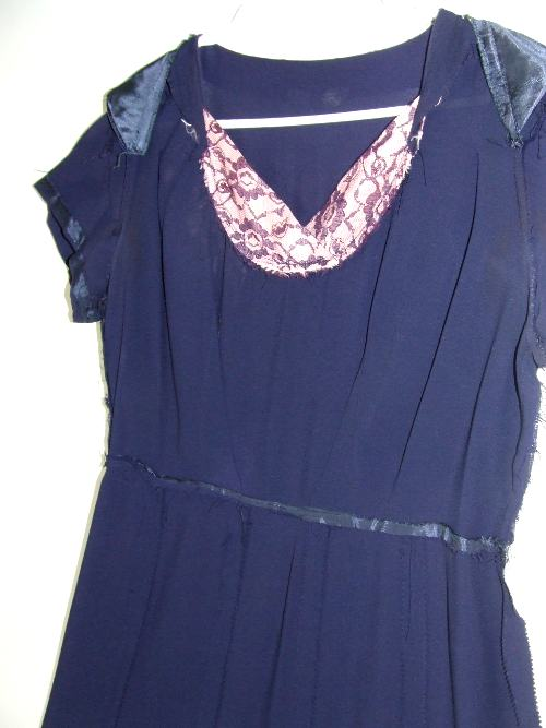 Sears Roebuck dress, inside out front.