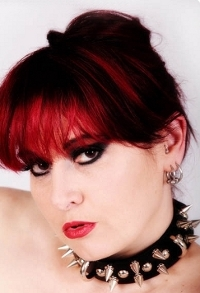 Smouldering glamour portrait of Phoenix Flame.
