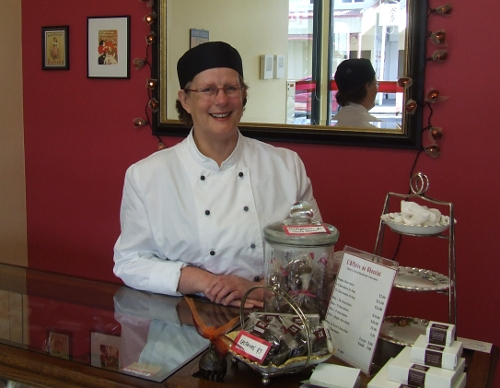 Jo Coffey, chocolatier and business owner.
