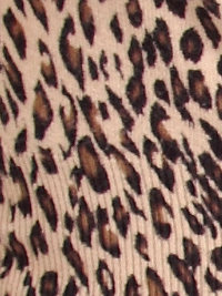 That Cue leopard print - it's like this one - except with a dark brown background.