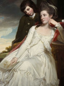 I had the greatest difficulty in finding a pretty Romney brunette who was not Lady Hamilton - my senior friend would have disapproved tremendously of Lady Hamilton!