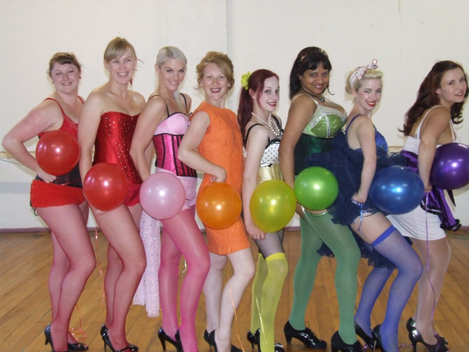 Dress rehearsal with our Burlesque Rainbow