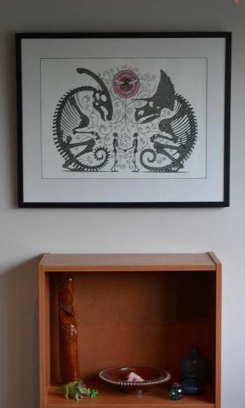 """Dan McCarthy print, """"Shared Memory: Pollinators"""", 2008"""