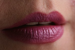 This is my mouth on purple, courtesy of photographer Andy