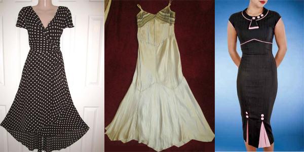 A range of EBay finds: Laura Ashley, Karen Millen, and Stop Staring.