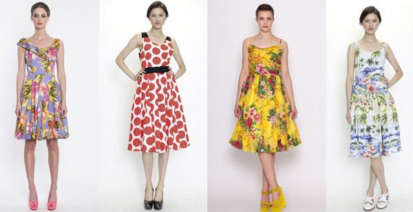 Dresses include: Violet Crumble, Rockabella, Pucker Up.