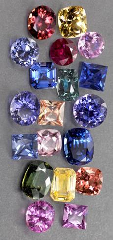 Multicoloredsapphires